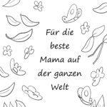 Malvorlage Muttertag - Beste Mama
