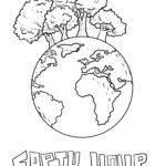 Malvorlage Earth Hour | Umweltschutz