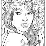 Coloring picture woman face for coloring