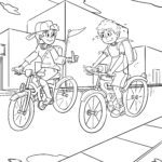 Coloring pages riding a bicycle for coloring - coloring pages for children