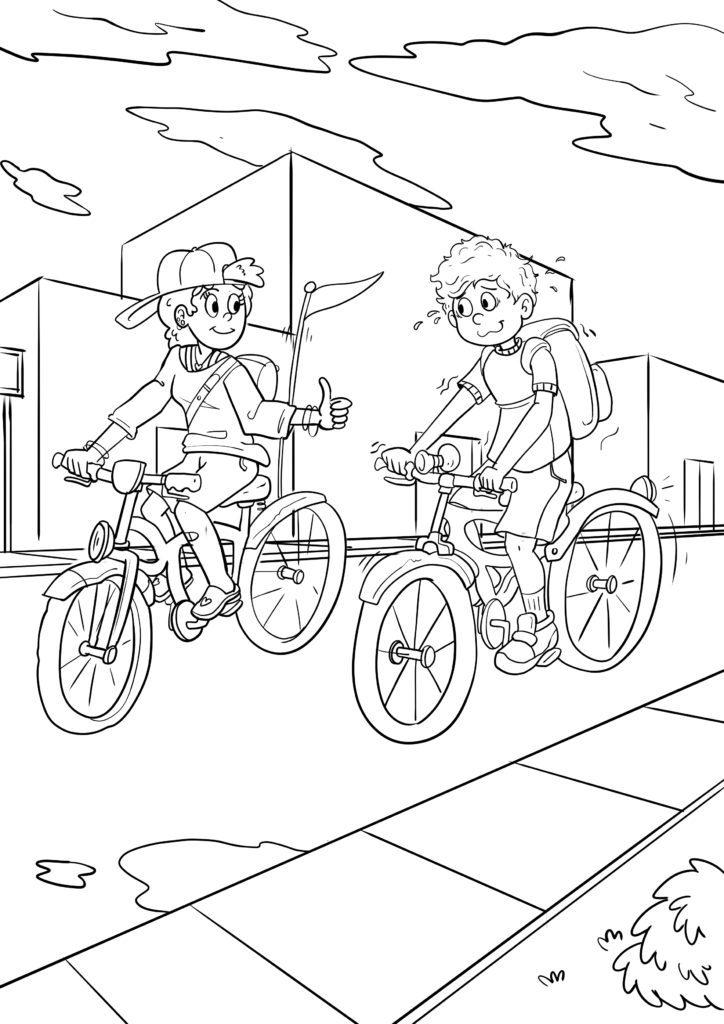 malvorlage fahrrad fahren  kostenlose ausmalbilder