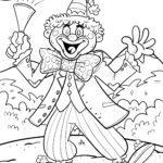 Halaman mewarnai kostum Mardi Gras