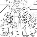 Ausmalbild Fasching und Verkleidung zum Ausmalen für Kinder