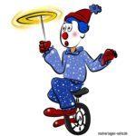 Fertig ausgemalter Clown