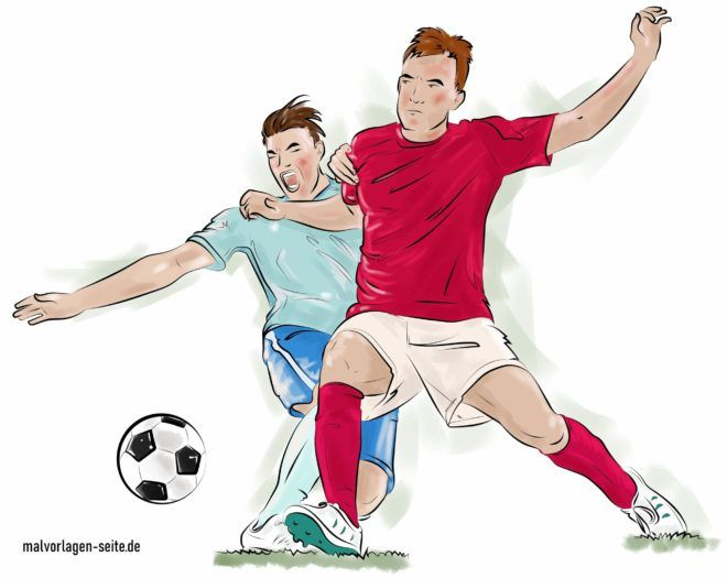 Colored football players