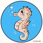 Colored seahorse