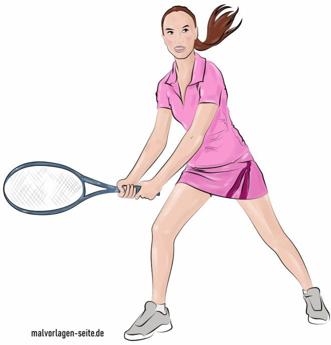 Colored tennis player