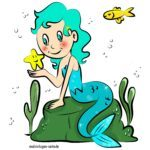 Colored mermaid