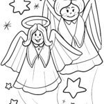 Angel coloring page. Coloring page for children