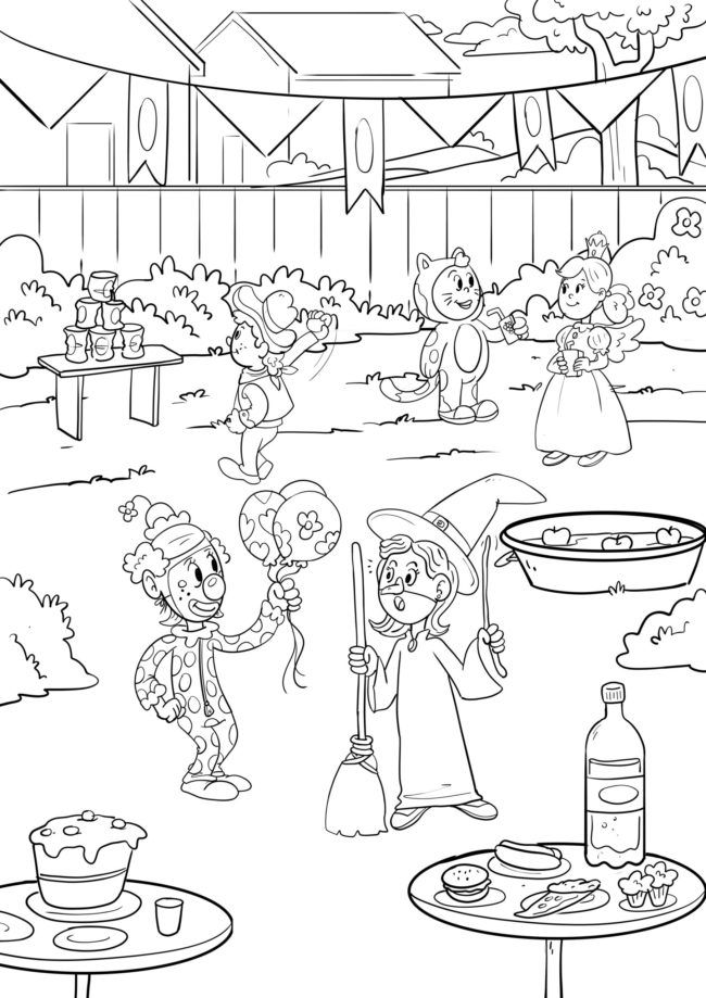 Coloring page carnival / carnival