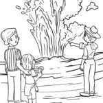 Coloring page geyser Vacation travel