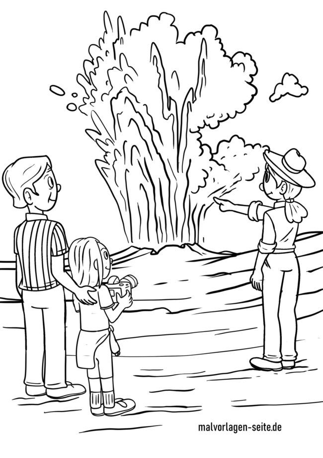 Coloring page geyser