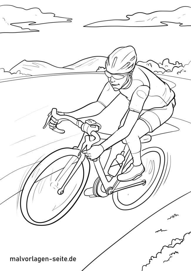 Malvorlage Rennrad / Radrennen