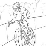 Coloring page racing bike. Cycling races are for children to color