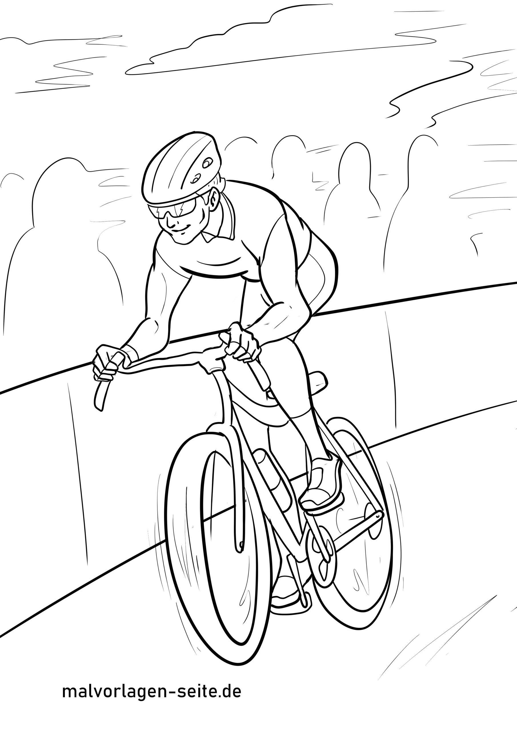 malvorlage radrennen fahrrad fahren  kostenlose ausmalbilder