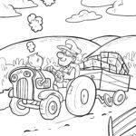 Ausmalbild Traktor - Malvorlage Trecker gratis ausmalen