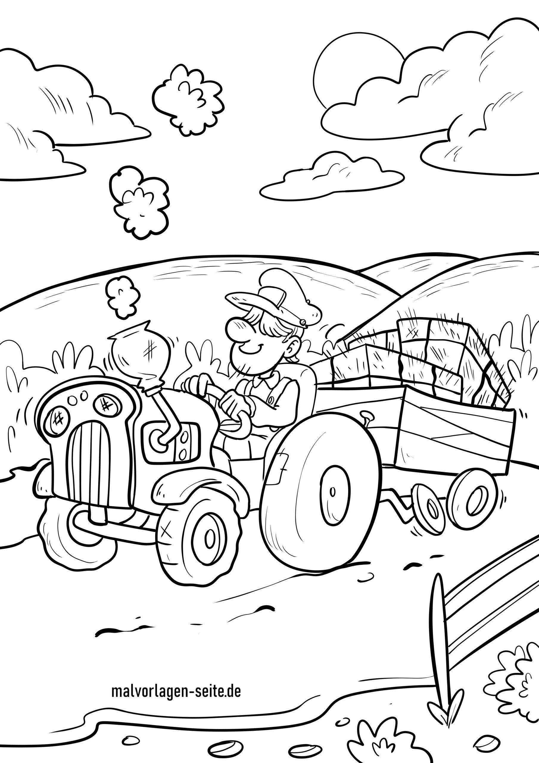malvorlage traktor  ausmalbilder kostenlos herunterladen