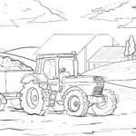Tractor coloring page / coloring page