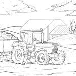 Ausmalbild Traktor / Malvorlage zum Ausmalen