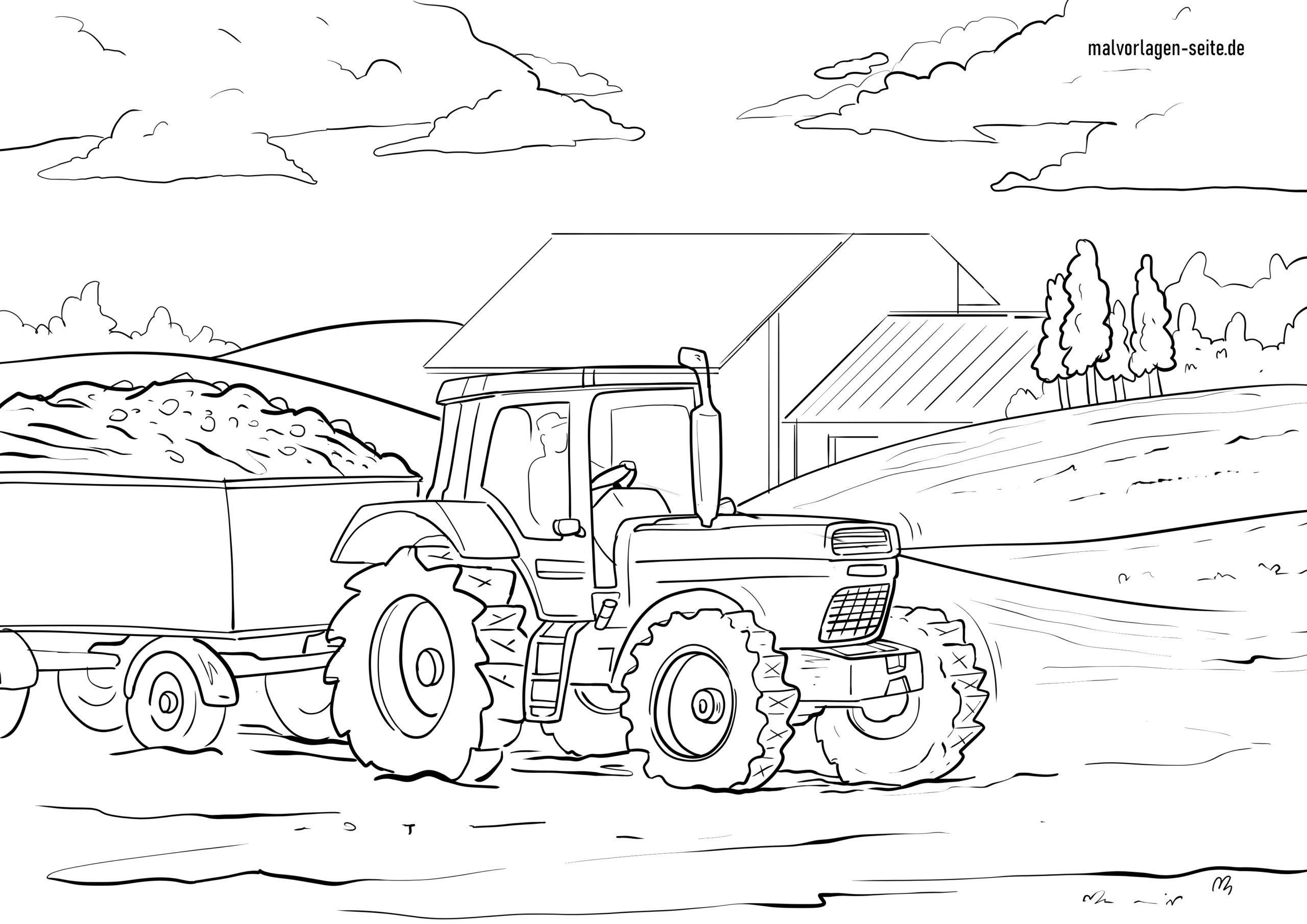 Malvorlage Traktor Kostenlose Ausmalbilder