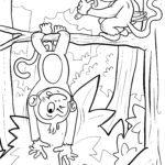 Coloriage de petits singes pour les enfants à utiliser