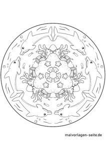 Mandala Dolphins | Coloring mandalas for children