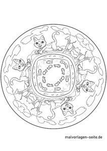 Katzen Mandala - Mandalas zum Ausmalen für Kinder