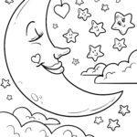 Ucretsiz Boyama Sayfalari Moon Indir