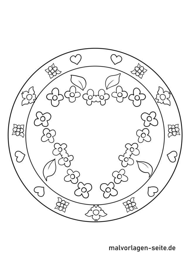 Muttertag Mandala mit Platz für Text