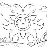 Dibujo para colorear sol para colorear para niños