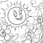Dibujo para colorear sol para colorear