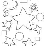 Stars and patterns for coloring in for kids