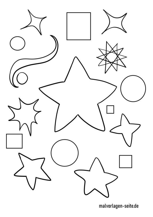 Malvorlage Sterne
