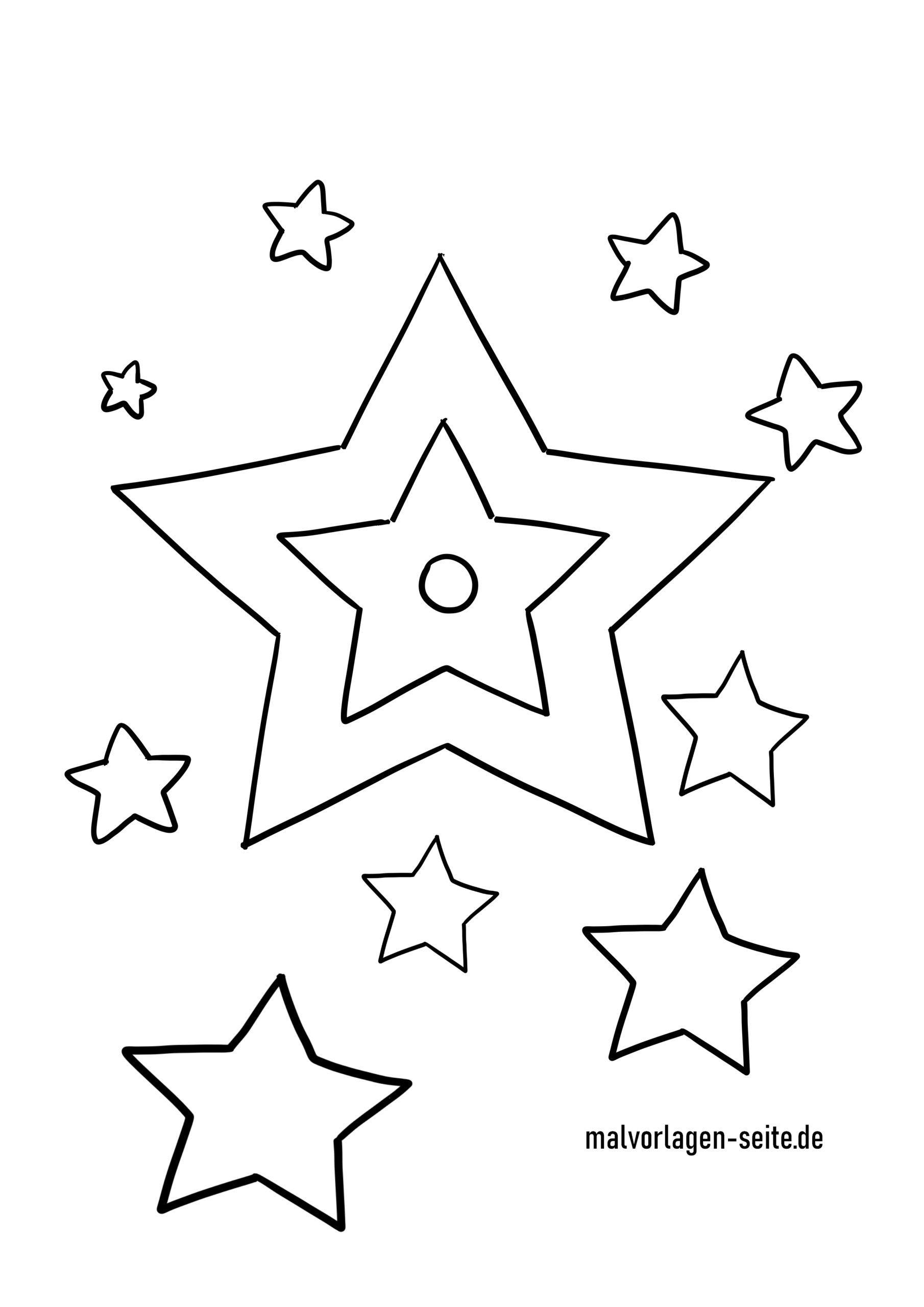Malvorlage Sterne - Kostenlose Ausmalbilder