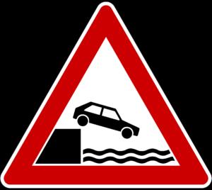 Uferstraße Verkehrsschild - Kostenlose Ausmalbilder