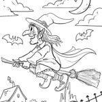 Malvorlage Walpurgisnacht Hexe