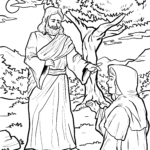 Coloring page resurrection Jesus religion