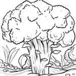Ausmalbild Baumn - Malvorlage Baum zum Ausmalen