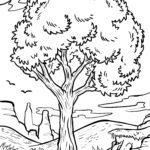 Baum zum Ausmalen für Kinder