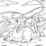 Coloring page dragons | mythical creatures