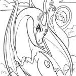 Coloring page dragons for children