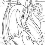 Malvorlage Drachen | Fabelwesen