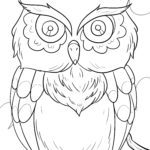 Coloring picture owl