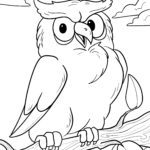 Coloring picture owl - coloring page