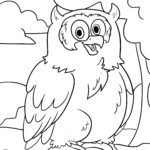 Owl for coloring for kids - Coloring page owls