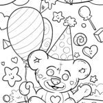 Coloring page children's birthday - celebrating a birthday