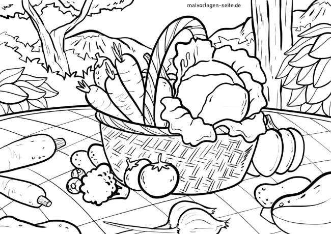 Coloriage légumes