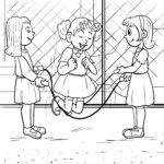 Farvelægning gummi twist hoppe reb børn