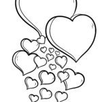 Template hearts for coloring