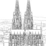 Coloring page Cologne Cathedral